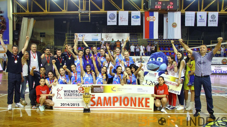 Odbojkašice Vizure - šampionke u sezoni 2014/15.